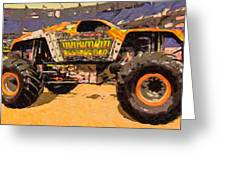 Monster Jam Party In The Pits Greeting Card