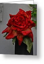 Monster Red Flower Greeting Card