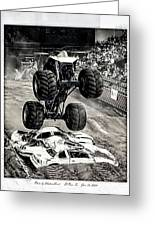 Monster Truck 1b Greeting Card