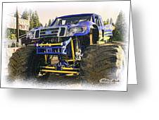 Monster Truck At The Fair Greeting Card by William Havle