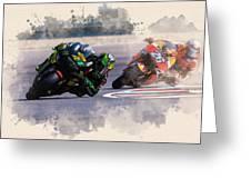 Monster Yamaha Greeting Card