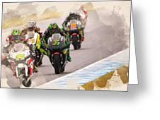 Monster Yamaha Tech 3, Greeting Card
