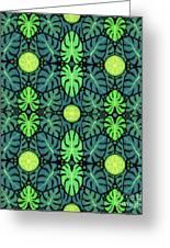 Monstera Leaves Pattern Greeting Card
