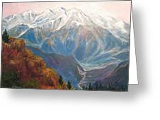 Mont Blanc France Greeting Card