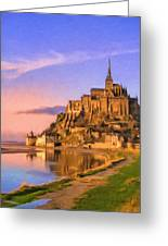 Mont Saint Michel At Sunrise Greeting Card
