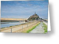 Mont St Michel At Sunset  Greeting Card