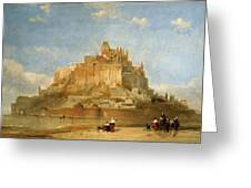 Mont St Michel From The Sands By David Roberts Greeting Card