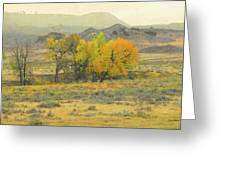 Montana Autumn Reverie Greeting Card by Cris Fulton