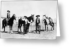Montana: Cowboys, C1895 Greeting Card