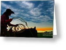 Montana Cowgirl ... Montana Art Photo Greeting Card