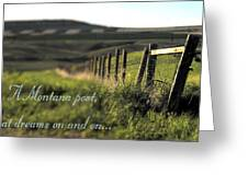 Montana Dream Greeting Card