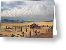 Montana Farmyard Greeting Card