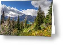 Montana-glacier National Park-grinnell Glacier Trail Greeting Card