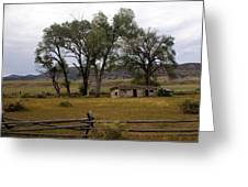 Montana Homestead Greeting Card