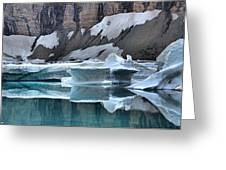 Montana Icebergs Greeting Card