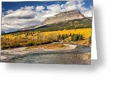Montana Landscape In Fall Greeting Card