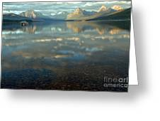 Montana Lonely Boat Greeting Card