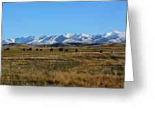 Montana Mountains Big Sky Greeting Card