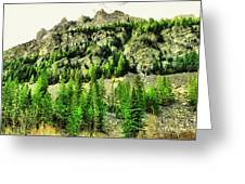 Montana Mountains In Autumn  Greeting Card