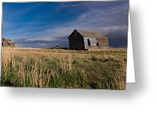 Montana Prairie Homestead Greeting Card