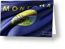 Montana State Flag Greeting Card