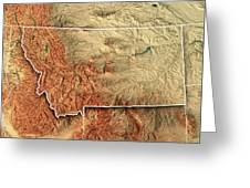 Montana State Usa D Render Topographic Map Border Digital Art By - Montana state usa map