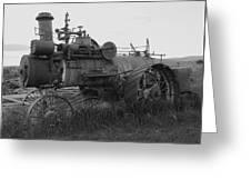 Montana Steam Farm Tractor Greeting Card