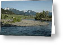 Montana Stream Greeting Card