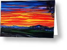 Montana Sunset Colors                     72 Greeting Card