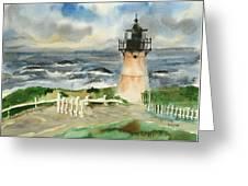 Montara Lighthouse, Plein Air Greeting Card