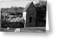 Montauk Guard House 2 B W Greeting Card