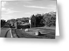 Montauk Guard House B W Greeting Card