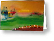 Montauk Marina Greeting Card