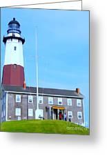 Montauk Point Light  Greeting Card