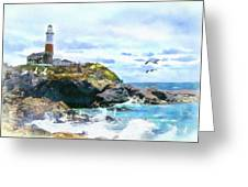 Montauk Point Light Greeting Card