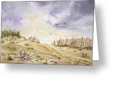 Montauk Sand Dune Greeting Card