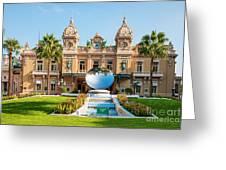 Monte Carlo Casino And Sky Mirror In Monaco Greeting Card
