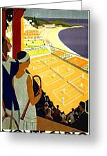 Monte Carlo, French Riviera, Tennis Club Greeting Card