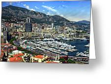 Monte Carlo Harbor View Greeting Card
