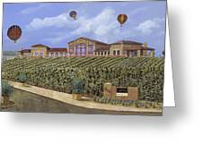 Monte De Oro And The Air Balloons Greeting Card