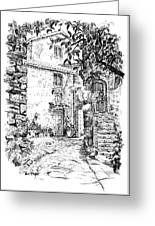 Montefioralle Tuscany Greeting Card