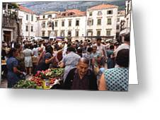 Montenegro Market 1969 Greeting Card
