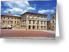 Montepulciano Piazza Grande Greeting Card