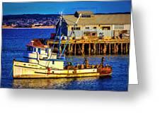 Monterey Bay Fishing Boat Greeting Card