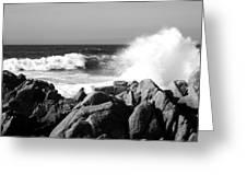 Monterey Waves Greeting Card