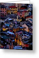 Monterosso By Night Greeting Card