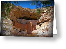 Montezuma Castle In Arizona Greeting Card by Jen White
