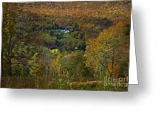 Montgomery Hillside Of Color Greeting Card