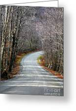 Montgomery Mountain Road Greeting Card