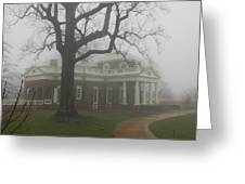 Monticello In The Fog Greeting Card